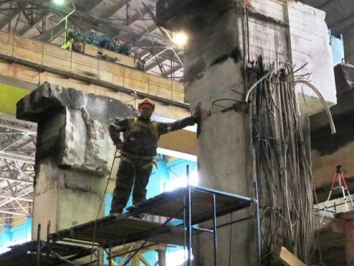 """Демонтаж аварийной бетонной конструкции высотой 25м на АО """"Швабэ - Оборона и защита"""""""